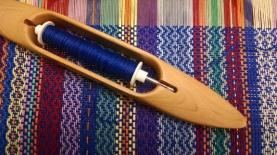 blue twill stripes on loom, Misti
